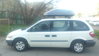 Автобокс Thule Touring M (200) 634200 титановый на Chrysler Grand Voyager, фото 1